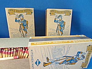 Three Boxes Of Bicentennial Match Boxes And Matches