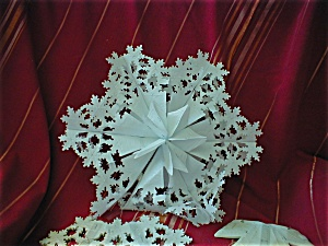 Paper House Snowflake Decorations