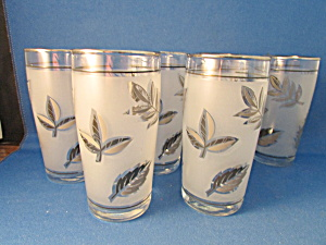 Six Foliage Juice Glasses From Libbey