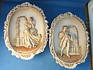Lefton 17th Century Porcelain Plaques