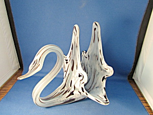 Murano Glass Swan Napkin Holder