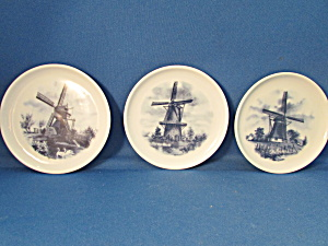 Hand Decorated Delft Miniature Plates
