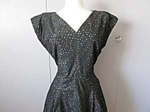 Hand Made Taffeta Eyelet Dress
