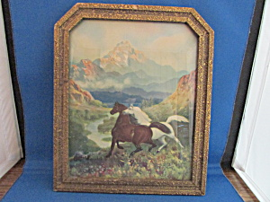 Framed Print Of R.l. Wilson Horses Picture