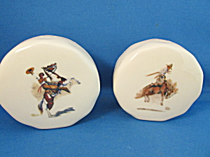 Cowboy Scene Salt And Pepper Shakers