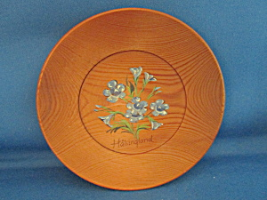 Wooden Plate From Halsingland Sweden
