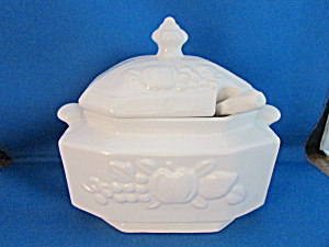 Small White Tureen With Ladle