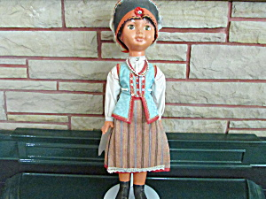 Hard Plastic Russian Or Slavic Doll