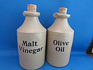 Crock Malt Vinegar And Olive Oil Cruets