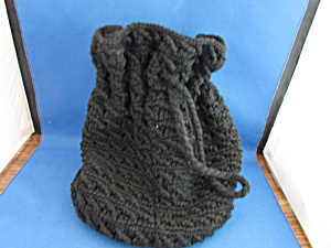 Hand Knitted Draw String Purse (Image1)