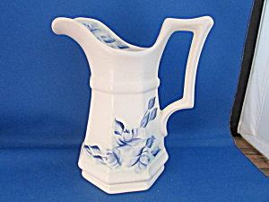 White And Blue Porcelain Pitcher