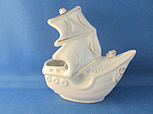 Ceramic Ship Planter From 1971