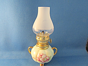 Hand Painted Miniature Oil Lamp