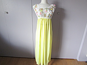 Yellow Empire Style Night Gown