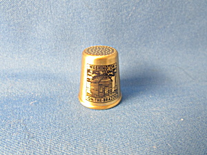 Texas Souvenir Washington On The Brazos Thimble