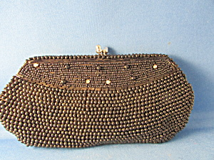 Black Beaded Clutch Purse (Image1)