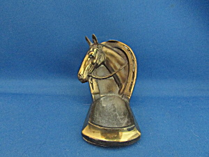 Brass Horse Head Pipe Holder