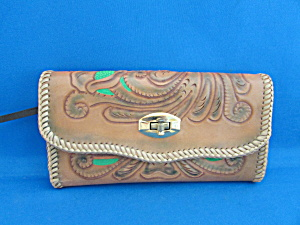 Hand Tooled Wallet and Checkbook Holder (Image1)