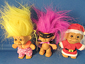 Three Troll Dolls