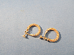 Gold Napier Hoop Earrings