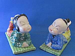 Oriental Figurines Made In Occupied Japan