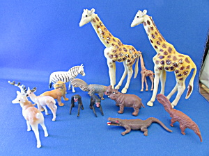 Group Of Zoo Plastic Animals