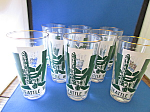 Eight Seattle Worlds Fair Glasses