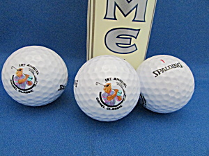 Three Spalding Golf Balls From The 1st Annual Camel Classic