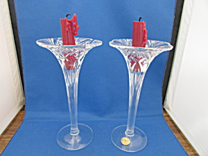 Lead Cryatal Cristal D' Arque Candle Sticks