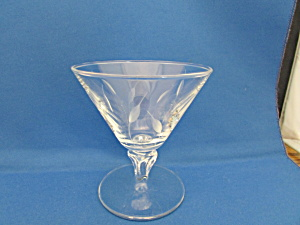 Seven Cut Glass Champagne Glasses
