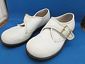 Child's White Sturdy Steppers Shoes