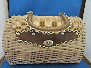 Two Sides Wicker Purse from Bags By Donna (Image1)