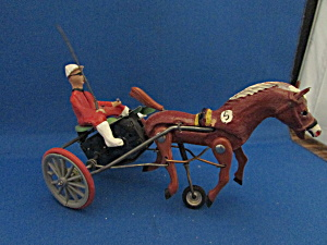 Old Horse And Buggy Racer Toy Made In Germany