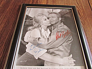 Barbara Eden And Red Button's Signed Photograph