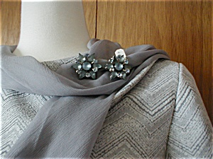 Gray/Blue Earrings (Image1)