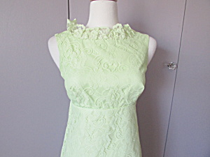 1960s Lime Green Brides Maid Or Prom Dress