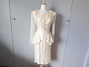 1980 A La Carte Lace Suit