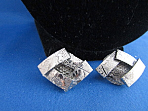 Hobe' Silver Clip On Earrings