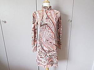 Vintage Paisley Turtleneck Dress (Image1)