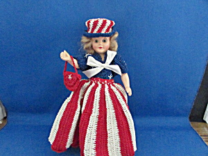 4th Of July Doll With Hand Knitted Outfit