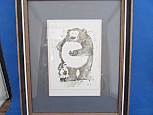 Gary Patterson's Golfer And Bear Print