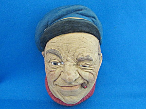 Bossom Chalkware Boatman Hanging Head