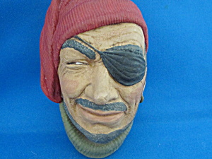 Bossom Chalkware Fisherman Hanging Head