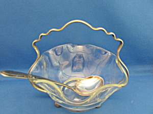 Serving Dish With Silver Spoon