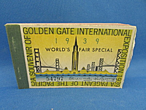 Golden Gate Exposition 1939 Book Of Ticket Stubs