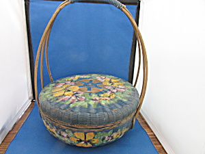 Vintage Painted Sewing Basket (Image1)