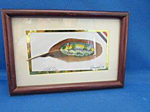 Hand Painted Picture On A Feather