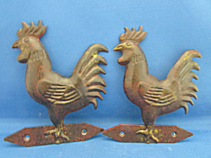 Two Metal Roosters