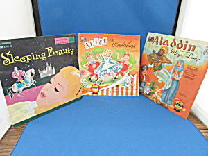 Aladdin, Sleeping Beauty, And Alice In Wonderland Records