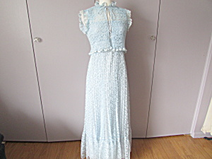 Blue Lace Formal Or Bridesmaid Maxi